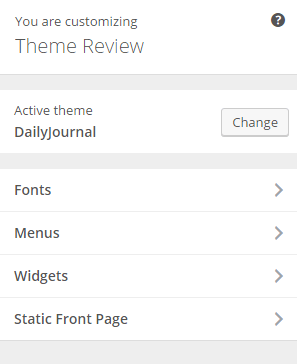 DailyJournal - Live customizer